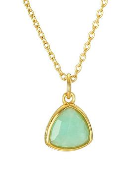 Love GEM Love Gem Gold Plated Sterling Silver Amazonite Pendant Necklace Picture
