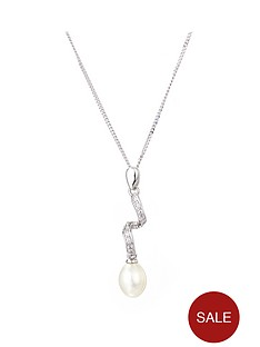 love-pearl-rhodium-plated-sterling-silver-white-cubic-zirconia-and-freshwater-pearl-swirl-pendant-on-18-inch-curb-chain