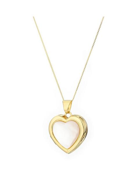 love-pearl-9ct-yellow-gold-white-mother-of-pearl-heart-locket-pendant-on-18-inch-curb-chain