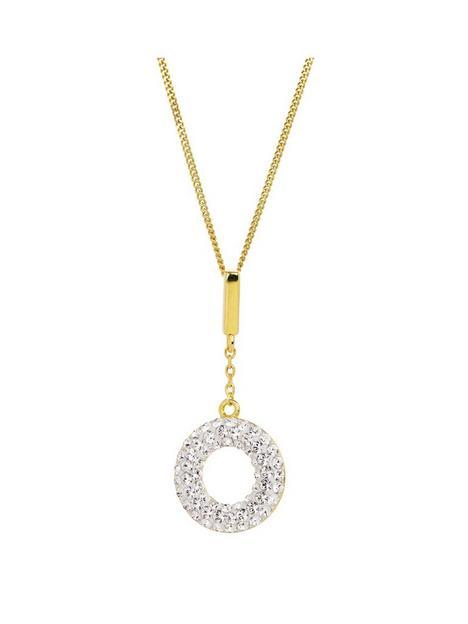 evoke-gold-plated-sterling-silver-swarovski-crystal-halo-drop-pendant-necklace