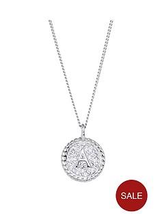 evoke-evoke-rhodium-plated-sterling-silver-clear-swarovski-crystal-initial-disc-pendant-on-18-inch-curb-chain