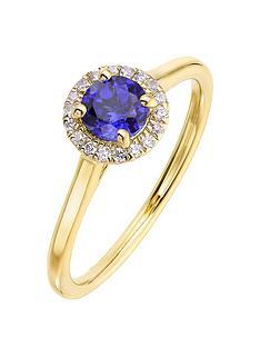 love-gem-9ct-yellow-gold-5mm-round-created-blue-sapphire-and-008ct-diamond-birthstone-halo-ring