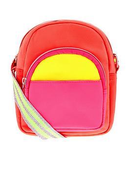 Accessorize Accessorize Girls Neon Utility Cross Body Bag - Multi Picture