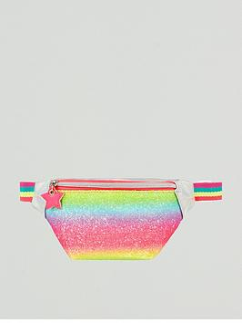 Accessorize Accessorize Girls Rainbow Glitter Belt Bag - Multi Picture