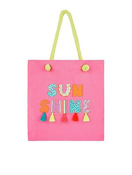Accessorize Accessorize Girls Sunshine Shopper - Pink Picture