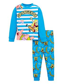 spongebob-squarepants-boysnbspstripe-long-sleeve-pj-set-blue