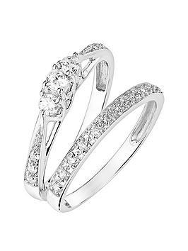 Love DIAMOND Love Diamond 9Ct White Gold 0.23Ct Three-Stone Diamond Ring  ... Picture