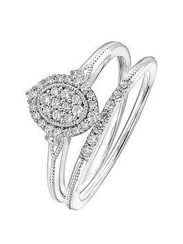 Love DIAMOND Love Diamond 9Ct White Gold 0.28Ct Diamond Bridal Set  ... Picture