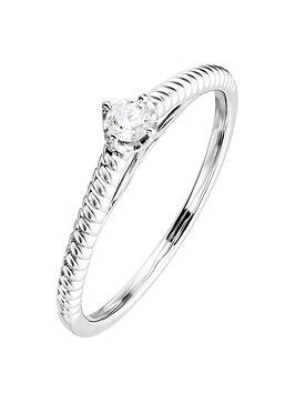Love DIAMOND Love Diamond 9Ct White Gold 0.10Ct Diamond Ring Picture
