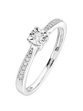 Love DIAMOND Love Diamond 9Ct White Gold 0.17Ct Diamond Ring Picture