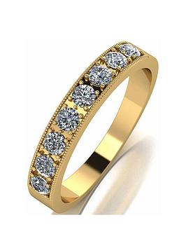 Moissanite Moissanite Moissanite 18Ct Gold 0.5Ct Total Eternity Ring Picture