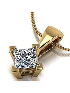 moissanite-moissanite-9ct-gold-060ct-square-brilliant-pendant