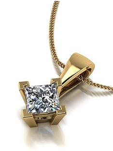 moissanite-moissanite-9ct-gold-060ct-square-brilliant-pendant