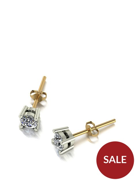 moissanite-9ct-gold-050ct-solitaire-earrings