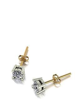 Moissanite Moissanite Moissanite 9Ct Gold 0.50Ct Solitaire Earrings Picture
