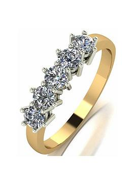 Moissanite Moissanite 9Ct Gold 0.75Ct Eternity Ring Picture