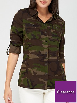 v-by-very-ultimate-button-through-shirt-camo