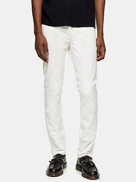 Topman Topman Stretch Skinny Chinos - White Picture