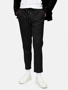 Topman Topman Stripe Joggers - Black Picture