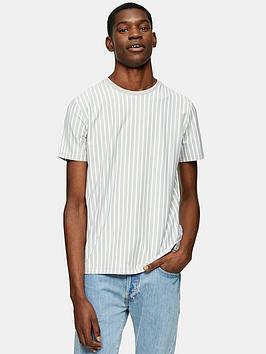 Topman Topman Vertical Stripe T-Shirt - Grey Picture