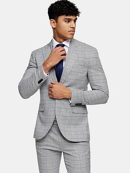 topman-skinny-fit-check-suit-jacket-grey