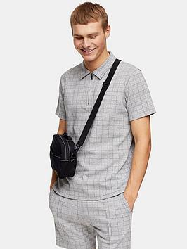Topman Topman Check Jersey Shorts - Grey Picture