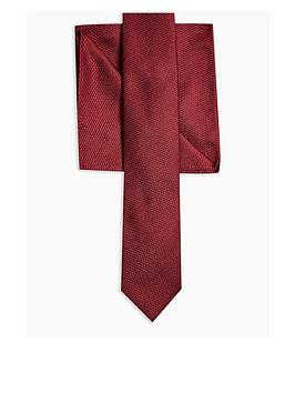 Topman Topman Tie &Amp; Pocket Square Set - Burgundy Picture