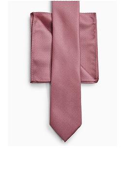 Topman Topman Tie &Amp; Pocket Square Set - Pink Picture