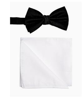 Topman Topman Bow Tie &Amp; Pocket Square Set - Multi Picture