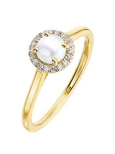 love-gem-9ct-yellow-gold-5mm-round-pearl-and-008ct-diamond-birthstone-halo-ring