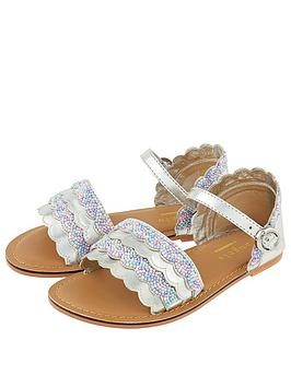 Accessorize   Girls Mermaid Beaded Sandals - Multi