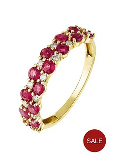 love-gem-9ct-yellow-gold-double-row-round-ruby-and-016ct-diamond-ring