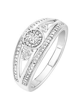 Love DIAMOND Love Diamond 9Ct White Gold Diamond Fancy Ring Picture