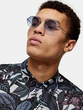 Topman Topman Round Sunglasses - Blue Picture