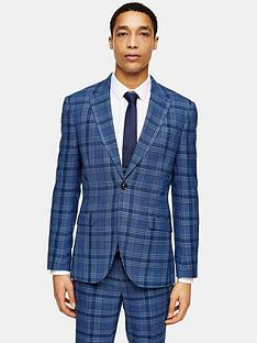 topman-skinny-fit-check-suit-jacket-blue