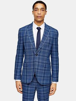 topman-skinny-fit-check-suit-jacket-blue