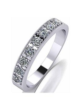 Moissanite Moissanite Moissanite Platinum 0.5Ct Total Eternity Ring Picture