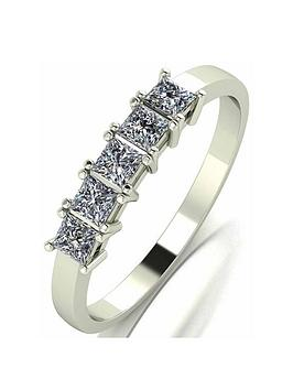 Moissanite Moissanite Moissanite 9Ct Gold 0.50Ct Square Brilliant Eternity  ... Picture