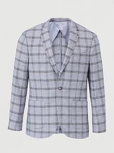 topman-slim-fit-check-suit-jacket-grey