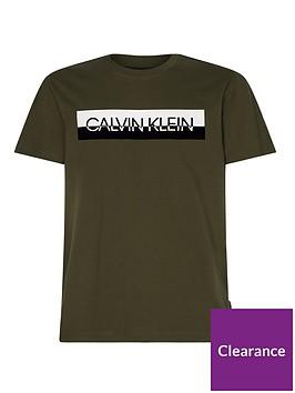 calvin-klein-split-logo-t-shirt-khakinbsp