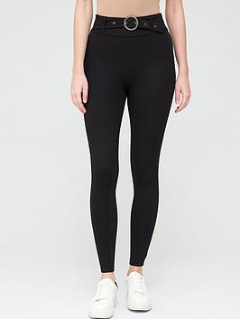 V by Very V By Very Belted Legging - Black Picture