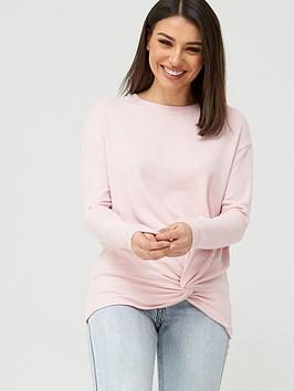 V by Very V By Very Snit Twist Hem Detail Tunic - Blush Picture