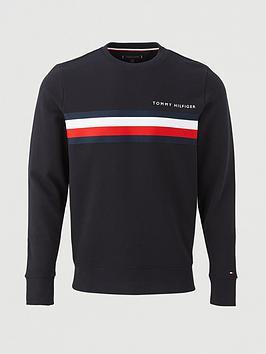 tommy-hilfiger-logo-sweatshirt-navy