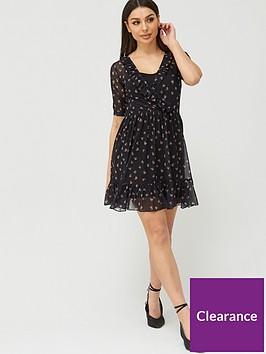 v-by-very-mesh-ruffle-neck-wrap-tea-mini-dress-black-floral