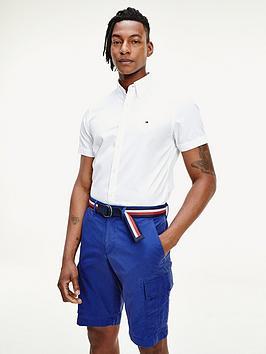 tommy-hilfiger-slim-fine-twill-short-sleeve-shirt-white