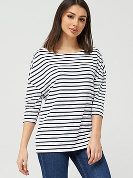 V by Very V By Very Stripe Drop Shoulder Oversized T-Shirt - Stripe Picture
