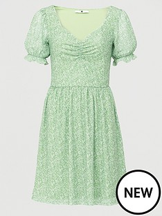 v-by-very-mesh-sweetheart-neck-mini-dress-green-floral
