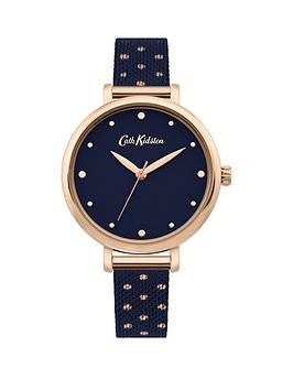 Cath Kidston Cath Kidston Cath Kidston Watch With Navy Satin Dial And Navy  ... Picture