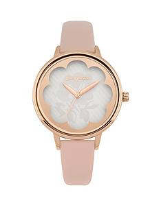cath-kidston-cath-kidston-nude-leather-strap-watch-with-off-white-dial