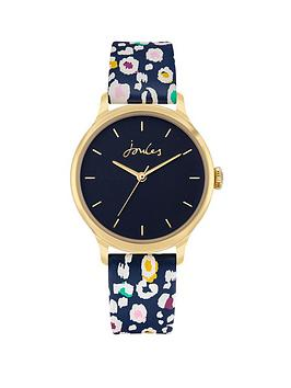 Joules Joules Ladies Watch With Blue Printed Pu Strap And Blue Dial Picture